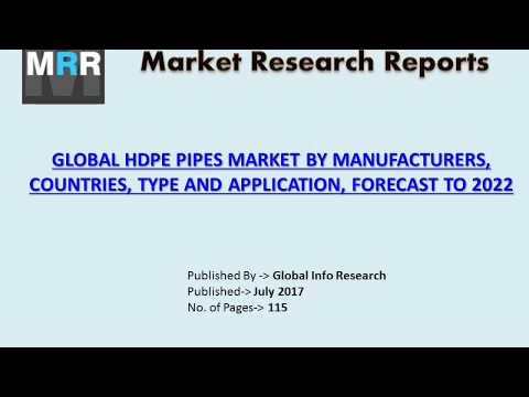 Global HDPE Pipes Market Analysis 2017 by Size, Share, Growth, Trends, and Forecasts to 2022
