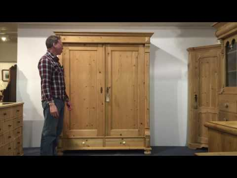 Large Antique Pine Wardrobe for sale- Pinefinders Old Pine Furniture Warehouse