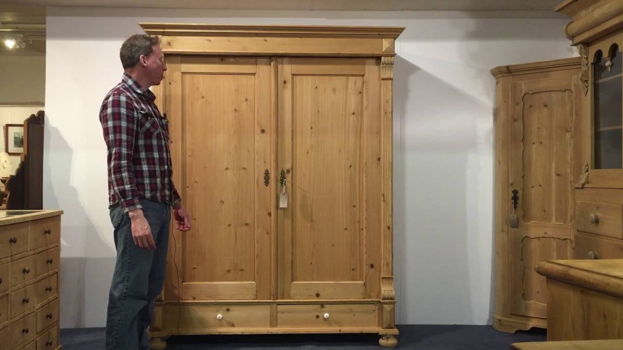 Large Antique Pine Wardrobe For Sale  Pinefinders Old Pine Furniture  Warehouse