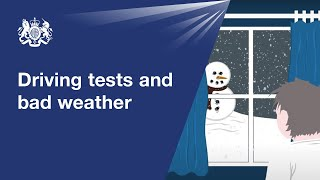 Driving tests in bad weather: official DVSA guide