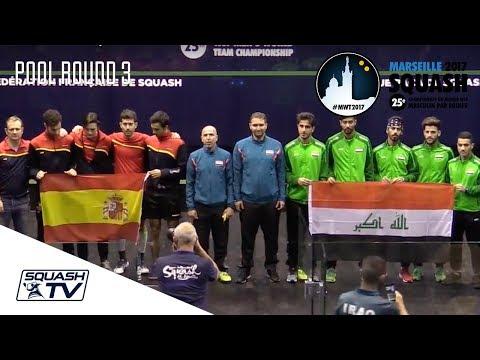 Squash: Spain v Iraq - Men's World Team Champs 2017 - Rd of 16 Highlights