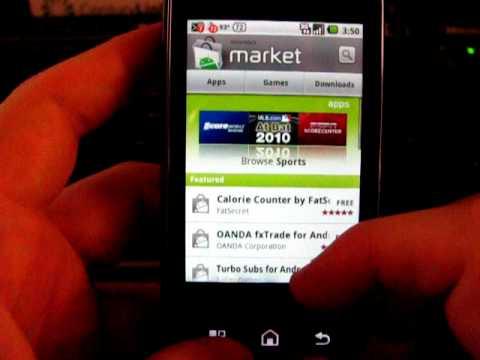 Motorola Cliq running Android 2.1.