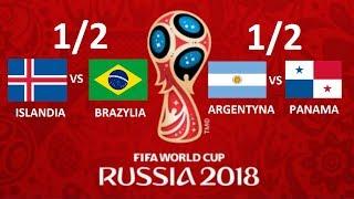 TURNIEJ PANINI WORLD CUP RUSSIA 2018 - PÓŁFINAŁY - ISLANDIA VS BRAZYLIA, ARGENTYNA VS PANAMA !