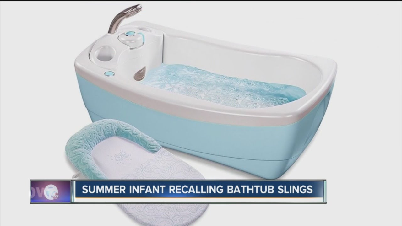 RECALL: Lil Luxuries infant bathtub sling - YouTube