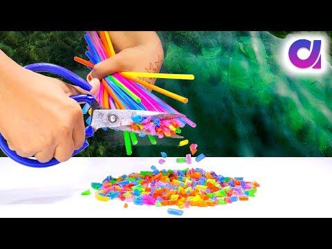 diy projects with drinking straws | drinking straw craft ideas | Artkala 282