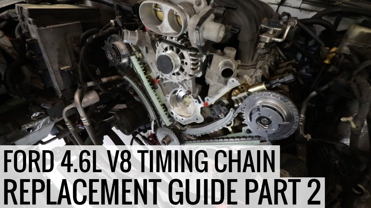 how to replace the timing chain 4 6l ford v8 part 2 project mullet mustang ep05 [ 1280 x 720 Pixel ]