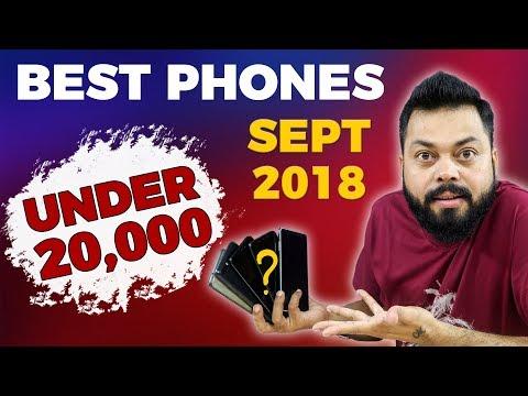 TOP 6 BEST MOBILE PHONES IN ₹15000 - ₹20,000 RANGE ⚡⚡ SEPTEMBER 2018