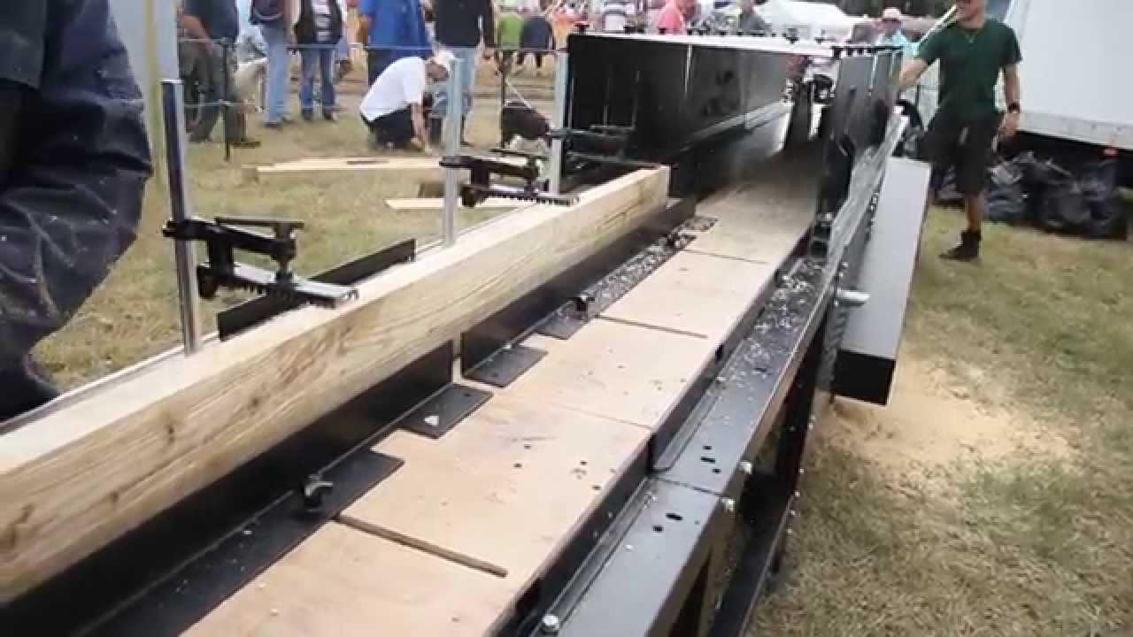 Making Hardwood Flooring Planks Ringmer Show 2015 Youtube