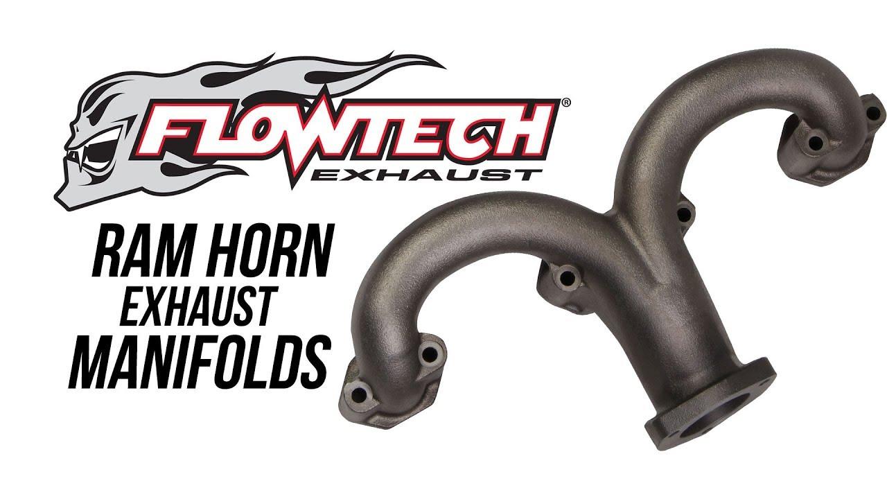 flowtech ram horn exhaust manifolds