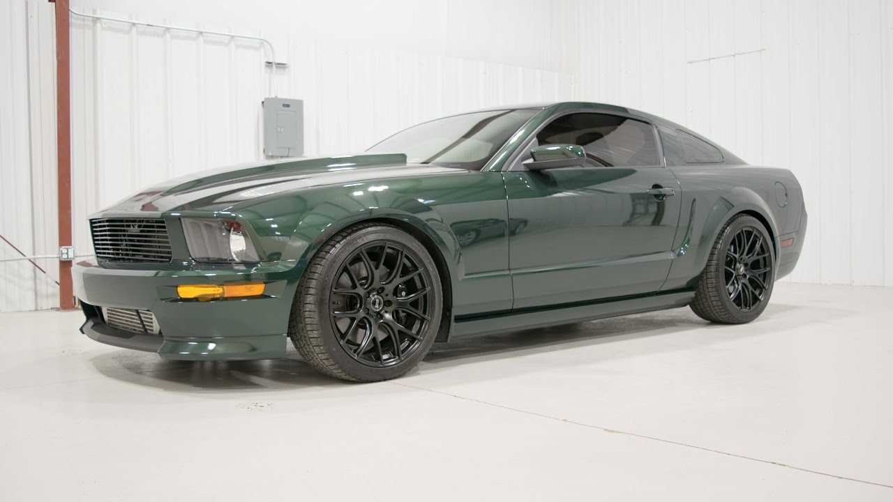 supercharged 2008 ford mustang bullitt walk around youtube. Black Bedroom Furniture Sets. Home Design Ideas