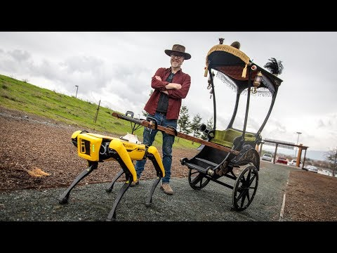 Adam Savage's Spot Robot Rickshaw Carriage!