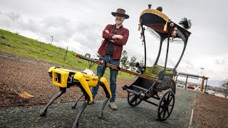 Adam Savage's Spot Robot Rickshaw Carriage!