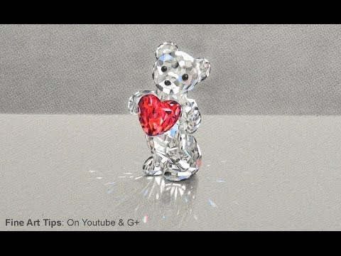 How to Draw a Crystal Bear - Swarovski - Best Mother's Day Gift: A Drawing!