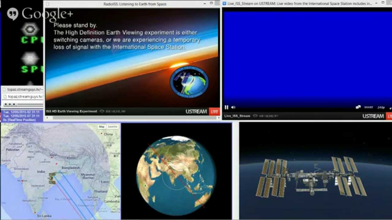 Live Video And Audio From Space Satellite ISS Tracker YouTube - Live satellite video