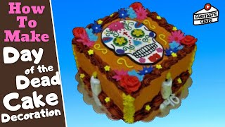 How to Make a SUGAR SKULL DAY OF THE DEAD Cake Decoration Tutorial by Caketastic Cakes Coco