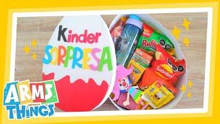 DIY: Caja Huevo Kinder GIGANTE! // regalo para el día del niño // Huevito Kinder Gigante !!!