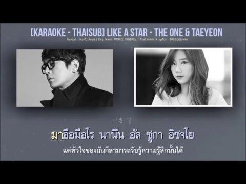 ( Karaoke - Thaisub ) Like A Star - Taeyeon & The One
