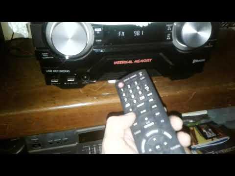 Como sintonizar emissoras de rádio no mini system Panasonic