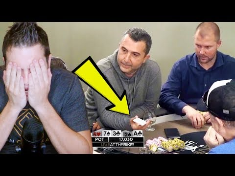 Drunk Maniac SHOWS HIS CARD! Craziest Poker Game Ever.