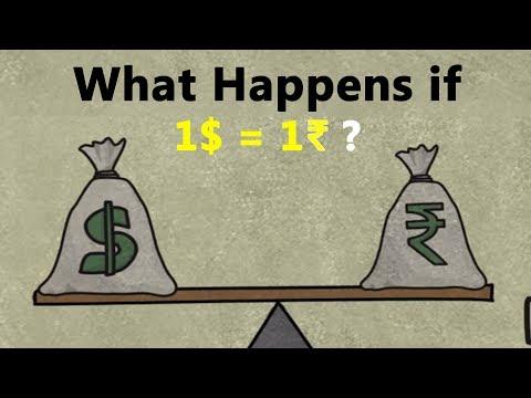 क्या होगा जब 1 रूपया = 1 डॉलर हो जायेगा?
