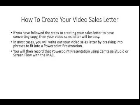 Sales Funnel Create Your Video Sales Letter Youtube