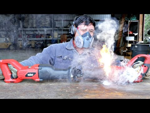 Cheap Harbor Freight Tool Catches On FIRE!!!