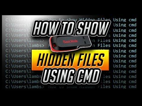 How To Show Hidden Files Using Cmd