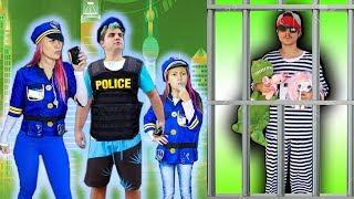 CRIANÇA Finge Brincar Ser POLICIAL 6  KIDS PRETEND PLAY WITH POLICE COSTUME