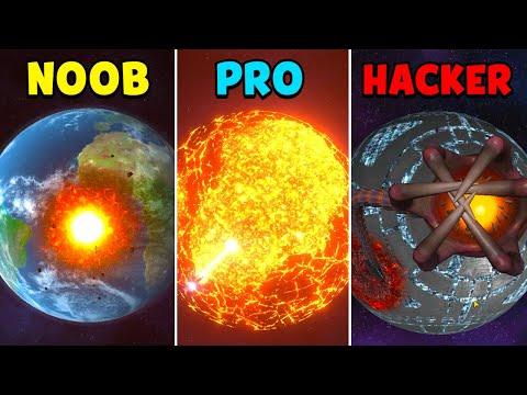 NOOB vs PRO vs HACKER - Solar Smash