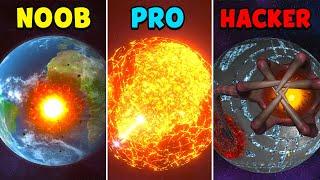 NOOB vs PRO vs HACKER - Solar Smash screenshot 1
