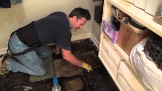 Process of how to remove black tar mastic shown & discussed