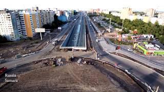 Реконструкция Московского шоссе пр. Кирова 20.08.2017 (Самара) 4K