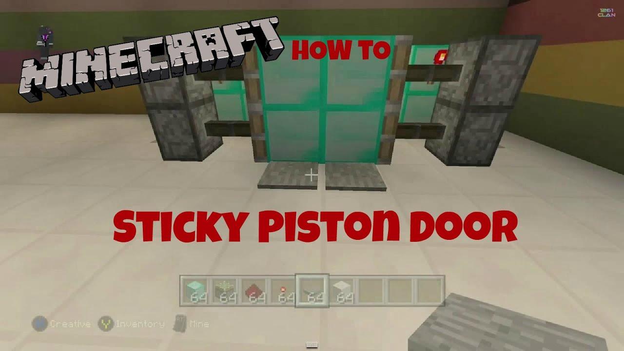 Minecraft 1.12: Redstone Tutorial - Compact 2x2 Piston Door