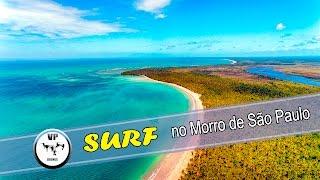 surf no morro de Sao Paulo filmado por drone