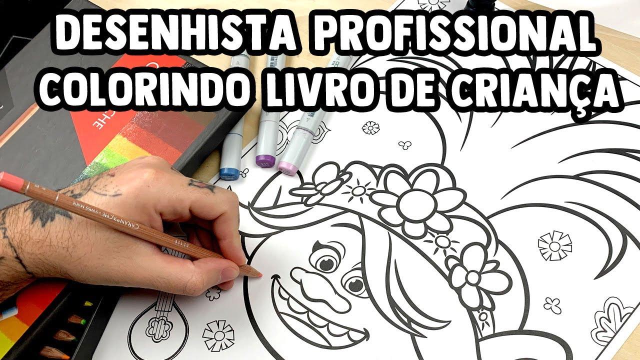 Download DESENHISTA PROFISSIONAL COLORINDO LIVRO GIGANTE DE CRIANÇA - O resultado ficou IMPRESSIONANTE!
