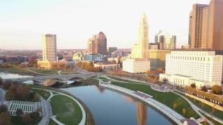 4k Aerial Flyover Columbus, Ohio Downtown