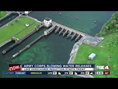 U.S. Army Corps of Engineers reduces Lake Okeechobee water flow