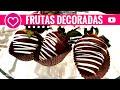 Como hacer frutas cubiertas de chocolate - Kawaii  - Arreglo frutal