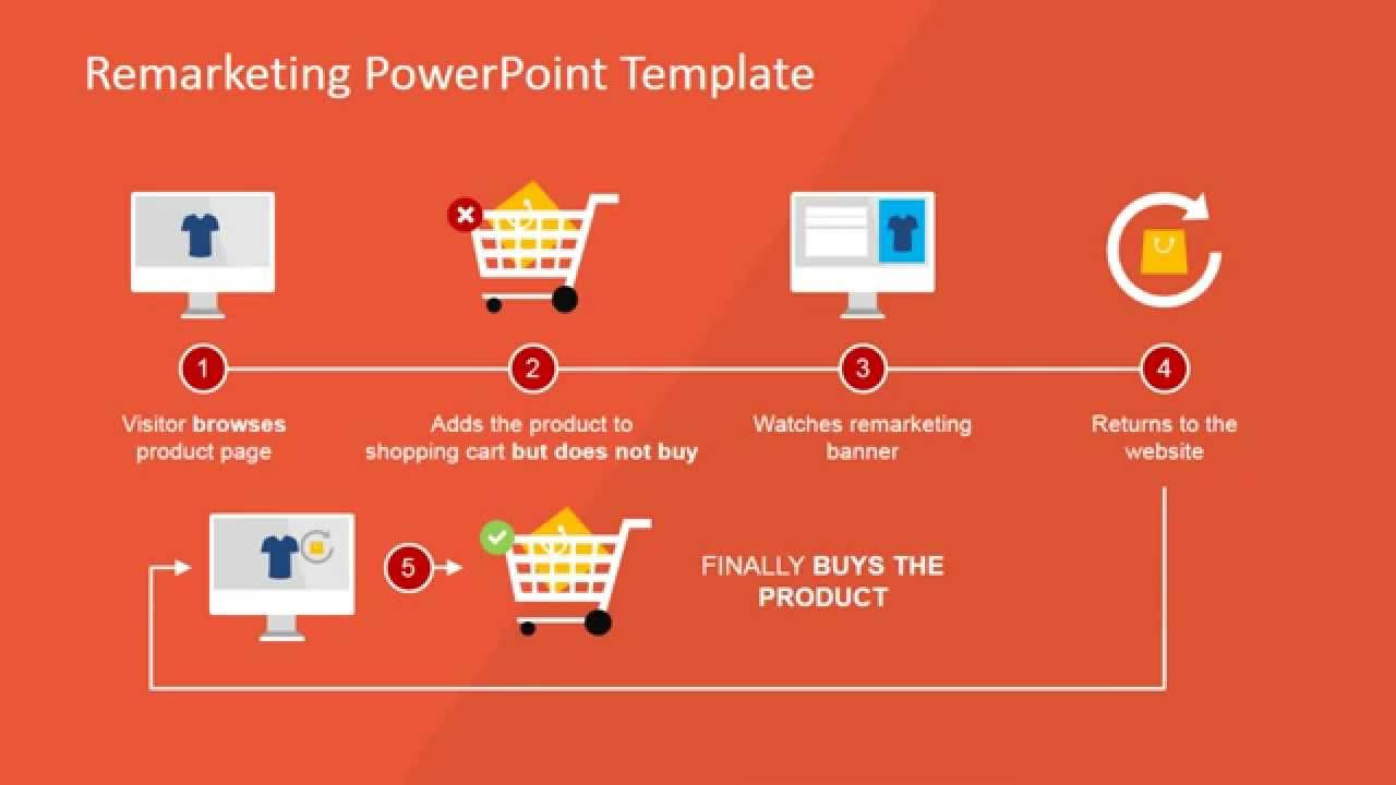animated flat remarketing powerpoint template - youtube, Powerpoint templates