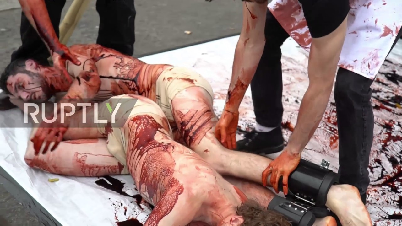 Download UK: Bloody human slaughterhouse comes to London for World Vegan Day