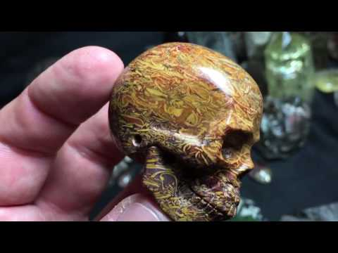 Hand carved Calligraphy stone skull