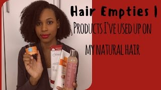 Hair Empties | Products I