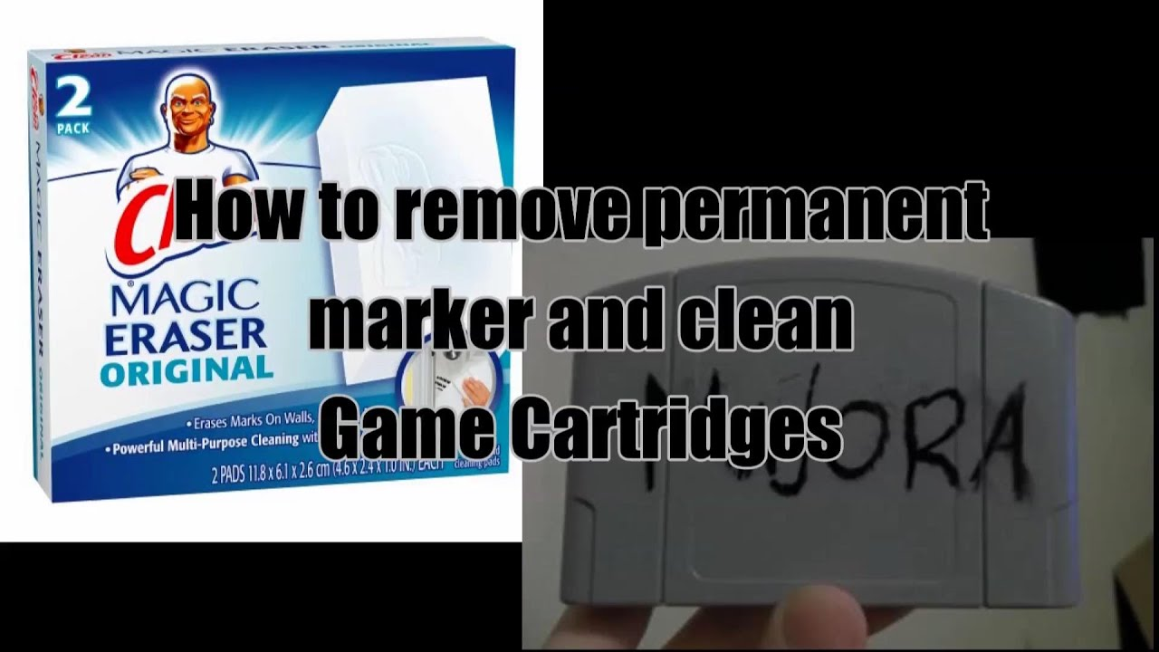 how to get get permanent marker off and clean a video game cartridge youtube. Black Bedroom Furniture Sets. Home Design Ideas