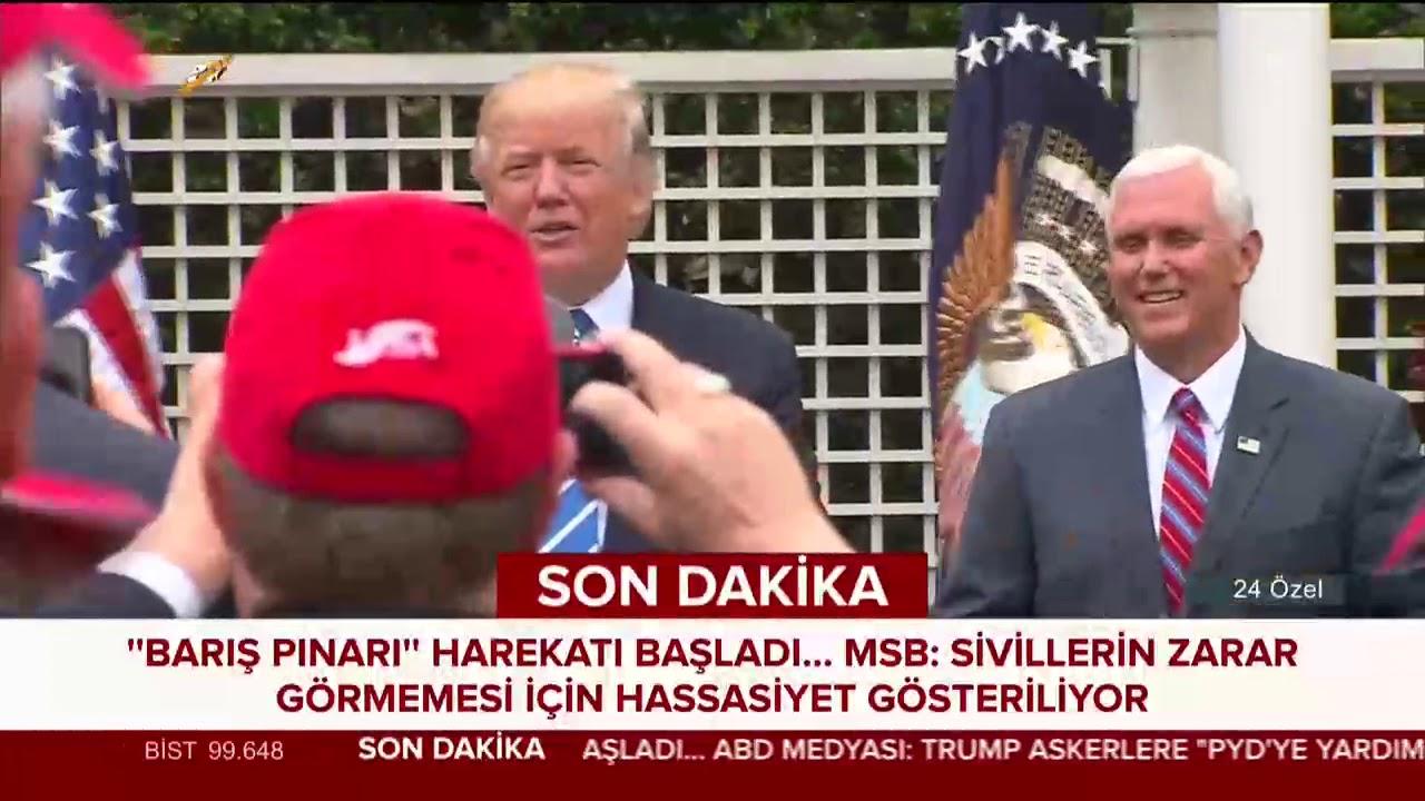 Trump: NATO üyesi Türkiye Suriye'yi işgal etti, bunu onaylamıyoruz #BarışPınarıHarekatı