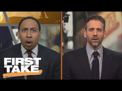 Stephen A. Smith Blasts Max Kellerman For Likening Adrian Peterson To Frank Gore | First Take
