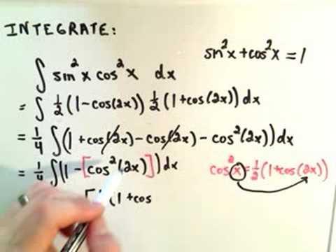 Trigonometric Integrals - Part 2 Of 6
