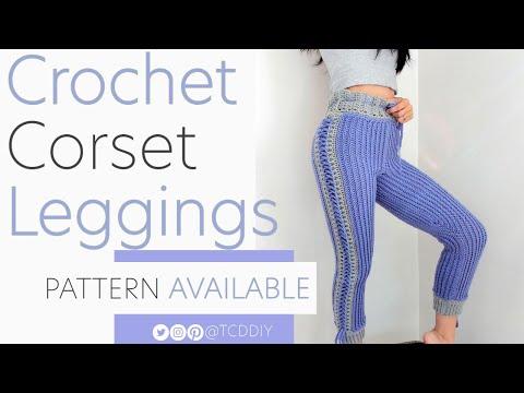 Crochet Striped Corset Leggings | Pattern & Tutorial DIY