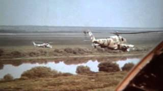 Mil Mi-24. Soviet Army(Training of basic elements heli dogfight. Full original video :