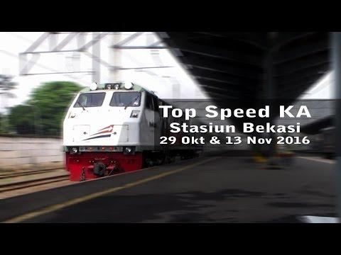 Top Speed KA Di Stasiun Bekasi