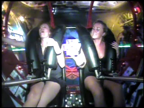 funny girls on slingshot